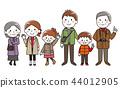 三代家庭秋冬季 44012905