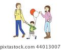 가족의 일러스트 3 색상 44013007