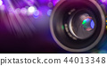 Camera lens with lense reflections, macro shot. 44013348