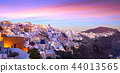 The famous sunset at Santorini in Oia village 44013565