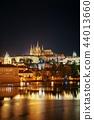 Prague skyline and bridge 44013660