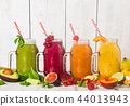 Healthy fresh smoothies with ingredients. 44013943