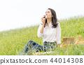 ผู้หญิงที่กินข้าวปั้น 44014308