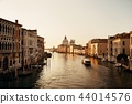 Venice Grand Canal sunrise and boat 44014576
