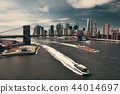 Brooklyn Bridge and downtown Manhattan 44014697