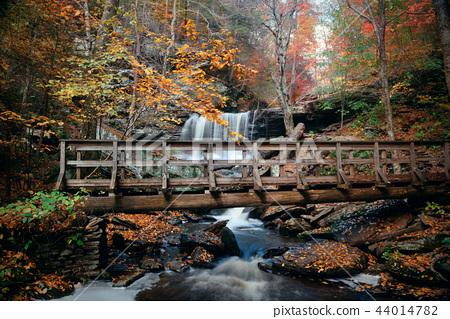 Autumn waterfalls 44014782