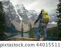 Hiker in snow 44015511