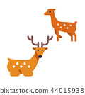 Japanese Deer Flat illustration 44015938