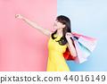 woman take shopping bag 44016149