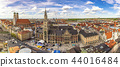 Munich Germany, aerial view panorama city skyline 44016484