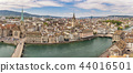 Zurich Switzerland, aerial view panorama skyline 44016501