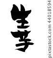 Calligraphy writing ginger food illustration 44018594