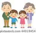 손자와 조부모 전신 44019454