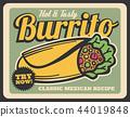 burrito, cuisine, vector 44019848