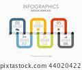 timeline, infographic, design 44020422