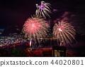 (静冈县)热海的夜景100万美元和海上烟花 44020801