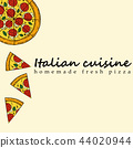 Hand drawn illustration of pizza 44020944