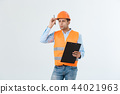 Civil engineer or architech and worker with safety helmet checking building ,engineering and 44021963