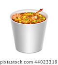 Realistic Detailed 3d Instant Noodles in Blank White Container. Vector 44023319