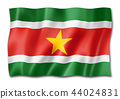 Suriname flag isolated on white 44024831