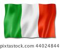 Italian flag isolated on white 44024844