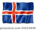 Icelandic flag isolated on white 44024846