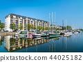 View of a marina in Caen, France 44025182