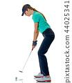 高尔夫球手 女人 女性 44025341