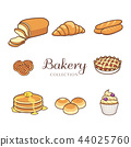 Hand drawn bakery product and dessert collection 44025760