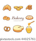 Hand drawn bakery product and dessert collection 44025761