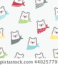 Cute bear seamless pattern background 44025779