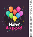 Happy Birthday template vector illustration 44025785