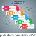 puzzle, template, infographic 44025859