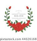 Wedding invitation rose frames 44026168