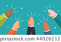 Clapping hands from multi ethnic business 44026212