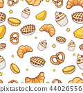 bakery hand drawn seamless pattern background 44026556