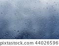 rain outside the window, drops of rain on the windowpane 44026596