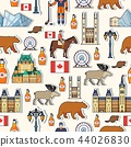 Country Canada travel vacation guide of goods, places and features. Seamless patern of architecture 44026830