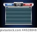 Creative vector illustration digital scoreboard broadcast graphic isolated on transparent background 44028848