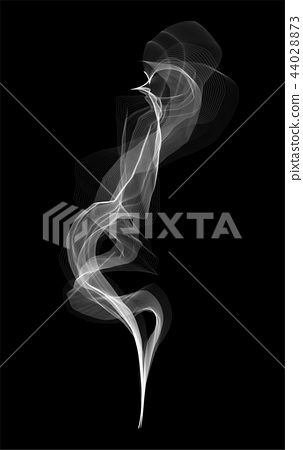Creative vector illustration of delicate white cigarette smoke waves texture set isolated on 44028873