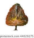 Autumn tree Double Exposure effect 44029275