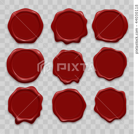 Stamp wax seal vector icons set 44030118