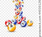 Keno lottery balls numbers vector bingo lotto 44030126