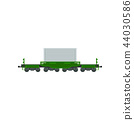 Freight cargo train, heavy railway transport vector Illustration on a white background 44030586