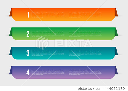 Creative vector illustration of infographics template step isolated on transparent background. Art 44031170