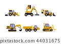 construction excavator backhoe 44031675
