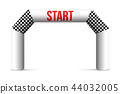 Creative vector illustration of finish line inflatable arch isolated on background. Art design 44032005