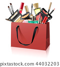 Vector Paper Bag with Makeup Cosmetics 44032203