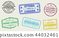 passport stamp travel 44032461