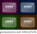 Creative vector illustration of illuminated realistic shine string bulbs banner isolated on 44032545
